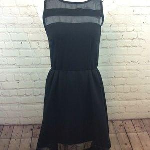 Liberty Love Black A Line Pouf Dress Size Small